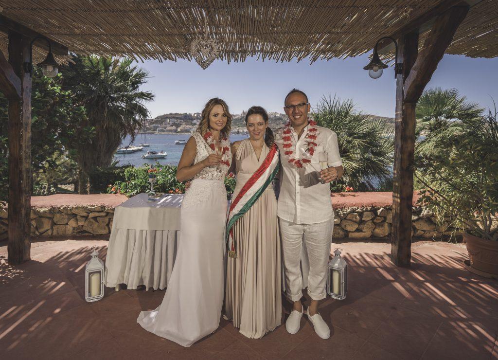 esküvő Máltán