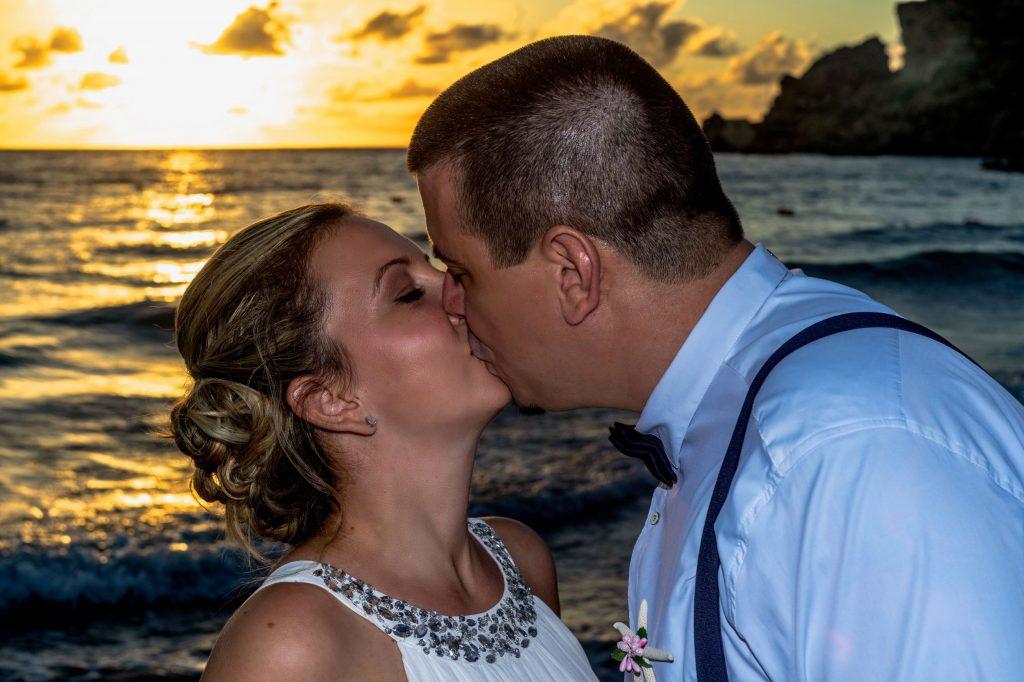 esküvői fotó, naplemente