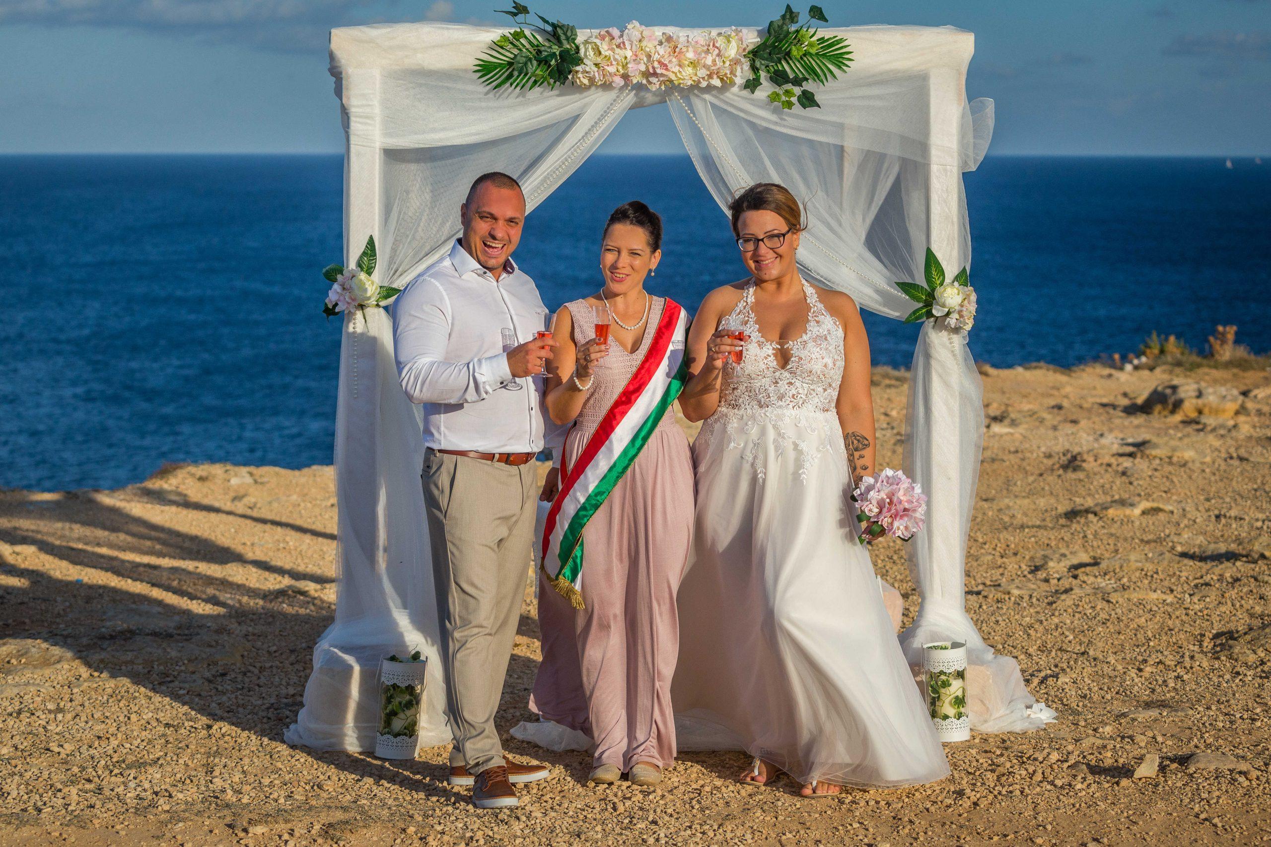 Klaudia és Zoli - máltai esküvő