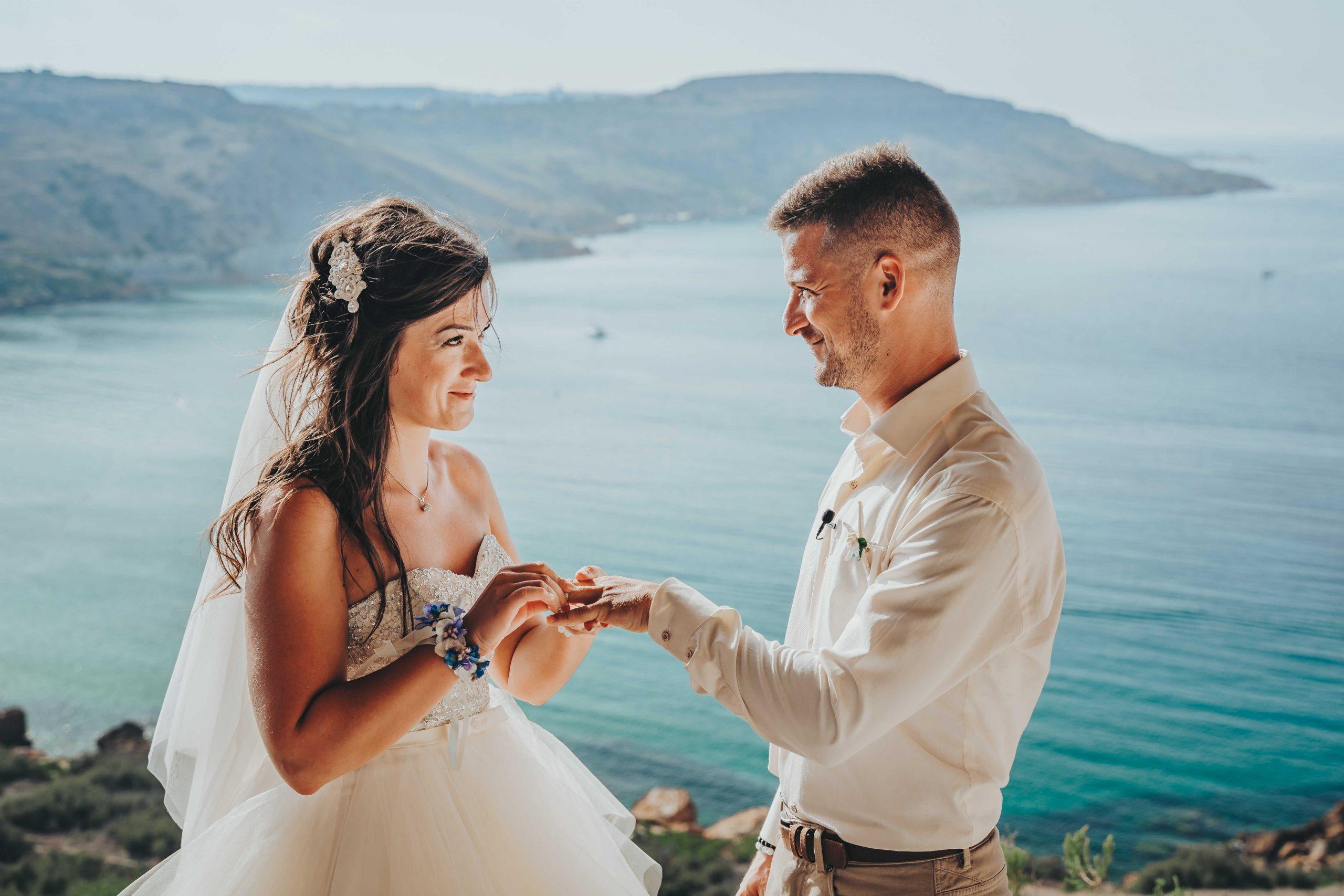 Flóra és Zoli - máltai esküvő