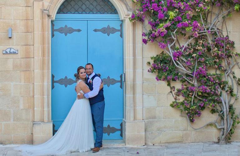Romantikus esküvő Máltán